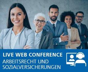 Arbeitsrecht und Sozialversicherungen 2021 - Live Web Conference