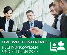 Rechnungswesen und Steuern 2020 - Live Web Conference