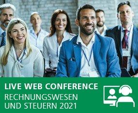 Rechnungswesen und Steuern 2021 - Live Web Conference